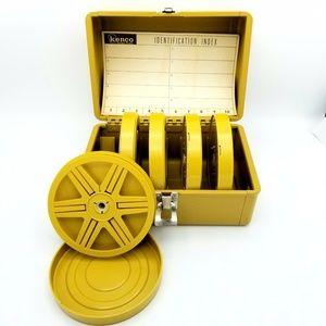 Kenco 8mm Super 8 Film Metal Reel Storage Box Vtg